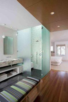idée de design de salle de bain dans la chambre