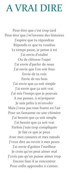 A vrai dire, ça s'apprend vraiment ! Lyric Quotes, Love Quotes, Lyrics, Affirmations, Citations Film, Texts, Poems, Mindfulness, Phrases