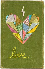"Bill Zindel, ""Valentine"" -- looks like it was collaged onto an old book cover..."