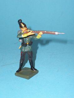 2383 – Lineol Soldat stehend schießend 7,5cm Serie Sehr Gut   eBay