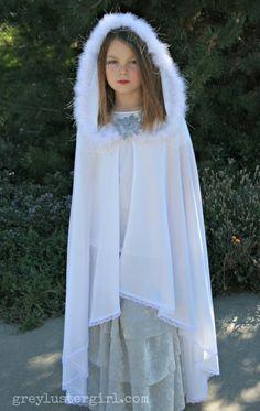 Snow Queen Full length cloak