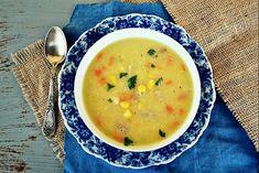 Reteta culinara Supa cremoasa de pui si porumb din categoria Supe. Cum sa faci Supa cremoasa de pui si porumb Cheeseburger Chowder, Ethnic Recipes, Food, Essen, Meals, Yemek, Eten