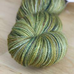 Merino/silk laceweight in mossy greens + golds and bronzes (yum)  :)