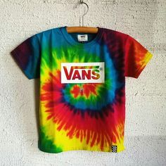 Tie Dye VANS T Shirt Tie Dye Outfits, Dance Outfits, Boy Outfits, Skater Outfits, Disney Outfits, School Outfits, Tie Die Shirts, Cute Shirts, Skull Fashion