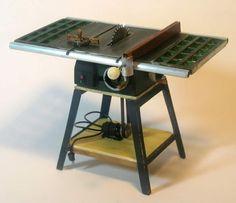 Miniature Modern Wood Shop Tools - Miniature Table Saw 1:12 scale! So cute!