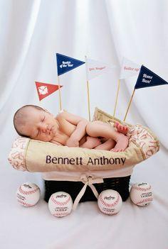 Newborn photography #baseball theme