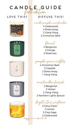 Essential Oil Candles, Essential Oil Diffuser Blends, Doterra Essential Oils, Essential Oil Combinations, Diy Beauté, Diffuser Recipes, Aromatherapy Oils, Living Oils, Just In Case