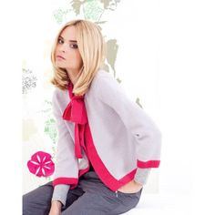 Bella jacket in Fuchsia and Putty.