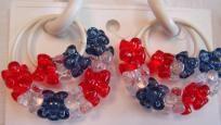 Patriotic Rubber Earrings