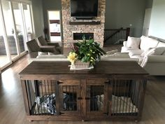Excellent Free Double door, Dog crate, Handcrafted Dog Crate, Double Door crate, Dog Furniture Suggestions A secure area for your dog A dog kennel is an excellent decision to supply your dogs secure exit dur Wooden Dog Crate, Diy Dog Crate, Dog Crate Table, Decorative Dog Crates, Pet Crates, Table Bench, Single Doors, Double Doors, Crate Tv Stand