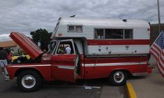 1965 C20 with 1964 Travel Queen Camper - C10Trucks.com