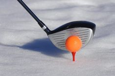 Unconventional ways to play golf. Ice golf.