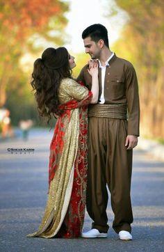 Kurdish bride and groom