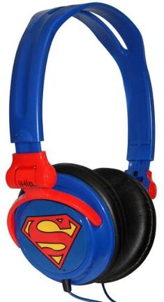 .ihip classic superman headphones: also come in batman and green lantern