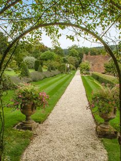 The gardens of Stonor Park Mansion in Oxfordshire