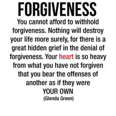 Forgiveness... feeling this much hurt & pain makes it really hard to forgive.