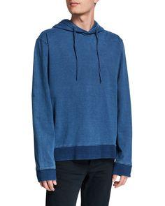 Slate & Stone Men's Drawstring Hoodie Sweatshirt In Blue Slate Stone, Hoodies, Sweatshirts, Cotton Spandex, Hooded Jacket, Mens Fashion, Long Sleeve, Jackets, Blue