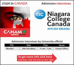 Study in #Canada - Niagara College Canada. For More Information Visit Here: http://canamgroup.com/maileruniversity.php?name=nigaracollemumbai #Studyabroad #StudentVisa #StudyVisa