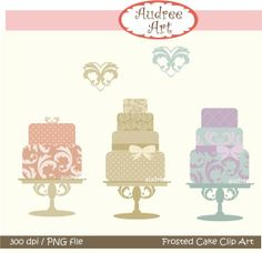 Clip art cakes Frosted Cake 1   instant download clip by audreeart, $4.50