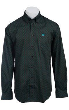 Cinch L/S Men's Fine Weave Shirt 1103737 | Cavender's