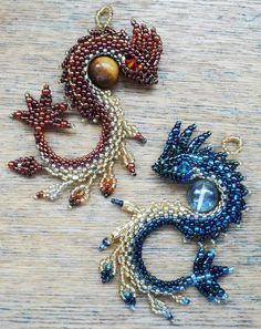 The Beading Gem's Journal: Amazing Beaded Dragon Jewelry Tutorials