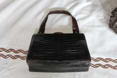 late 40s early 50s real crocodile bag