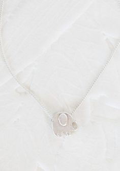 Elly The Elephant Necklace In Silver