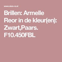 Brillen: Armelle Reor in de kleur(en): Zwart,Paars. F10.450FBL