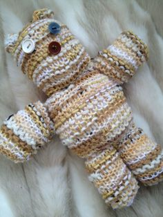 Hand Knitted Button Eye Bear £15.00