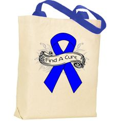 Advocate for a cause with Arthritis awareness Tote Bags with Color Handles.  #Arthritis #ArthritisAwareness #FindACure
