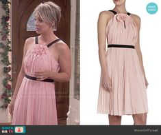 Penny's blush pink wedding dress on The Big Bang Theory.  Outfit Details: http://wornontv.net/51768/ #TheBigBangTheory