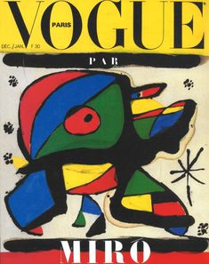 Vogue cover by Joan Miro, 1979