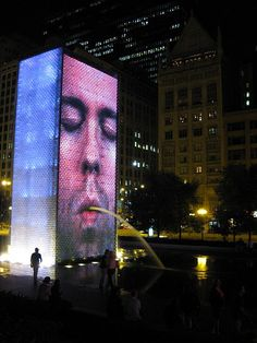 The Crown Fountain, Millennium Park, Chicago