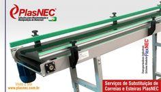 Serviços de Substituição de Correntes e Esteiras Modulares PlasNEC®