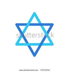 Star of David Israel symbol isolated on white background, David's star Jewish sign flag logo concept, star sticker icon vector illustration Israel star label blue color. Jewish Holiday wallpaper, card