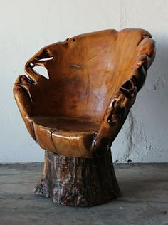 Awesome tree stump chair