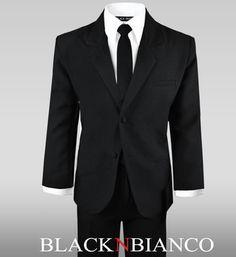 Black N Bianco Boys Teens Suit Dress Wear Set.