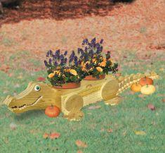 Alligator Flower Pot Wood Plan