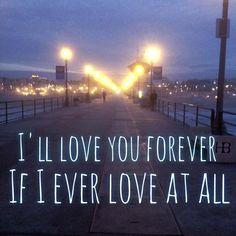 Some Gaslight Anthem lyrics I added to a picture at Huntington Beach during sunrise.