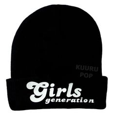 Girls' Generation Beanie  A must-have for all SONEs, this beanie is perfect for keeping comfy and warm in style. The hats may look ordinary, but they have a secret - the 'Girls' Generation' logo is printed in special glow in the dark ink.  - One size only. - Beanies should fit everyone age 10 and up (including adults), but are not recommended for larger heads. - High-quality print.