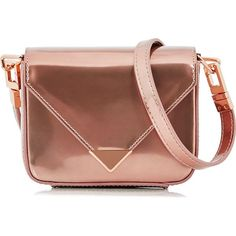 Alexander Wang Prisma Envelope Mini Sling Bag (34.730 RUB) ❤ liked on Polyvore featuring bags, handbags, rose gold, sling purse, mini purse, hand bags, brown handbags and leather man bags