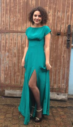 By Hand London Anna dress in teal silk!