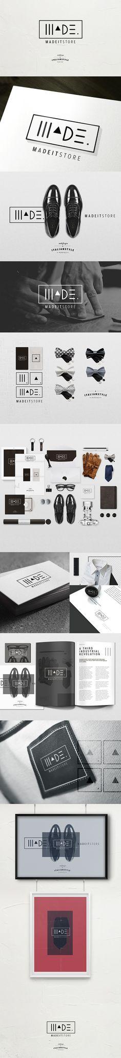 MADEIT store by Gaia Zuccaro, via Behance