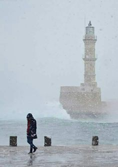The Lighthouse in Chania, Crete, Greece