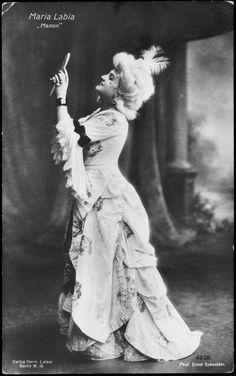 Labia, Maria as Manon Lescaut Italian soprano (1880-1953)