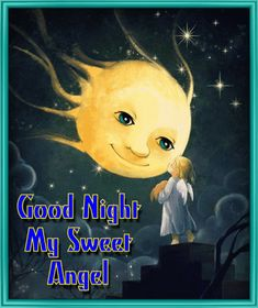 #Whatsapp a sweet, angelic #goodnight wish to your loved ones with this #ecard.