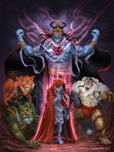 cartoons characters ArtStation - Mumm-Ra and the mutants, Gabriel Cassata 90s Cartoon Shows, Best 80s Cartoons, Cartoon Tv, Thundercats Cartoon, He Man Thundercats, Comic Villains, Marvel Characters, Cartoon Characters, Fictional Characters