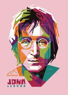 Beatles Art, John Lennon Beatles, The Beatles, Pop Art Illustration, Portrait Illustration, Pop Art Portraits, Portrait Art, Arte Pop, Jhon Lennon