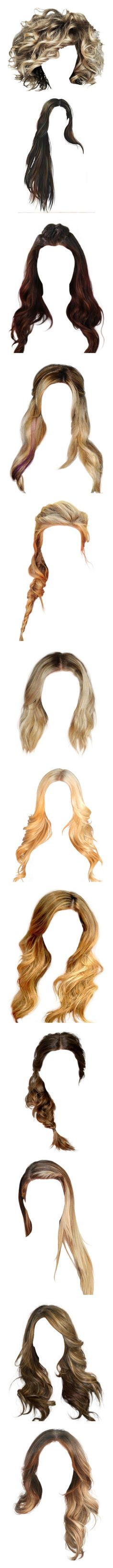 """""""Hair 6"""" by casey-avery ❤ liked on Polyvore featuring hair, wigs, doll hair, hairstyles, doll parts, filler, beauty products, haircare, hair styling tools and dolls"""