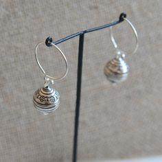 Hill Tribe Beads, Karen Hill Tribe Earrings, Earring Loops, Flower, End Cap Beads, 925 Silver, Sterling Silver, Handmade Beads, One Pair by WanderlustWorldArts on Etsy